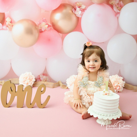 Marisela Rivera | First Year Baby girl pink balloons Gallery