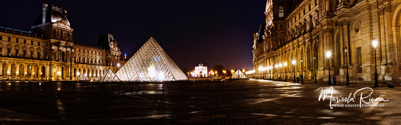 Musee Du Lourve Paris-Panorama by Marisela Rivera Photographer